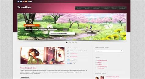 Templates Blogger Slideshow | newline blogger template 2014 free download