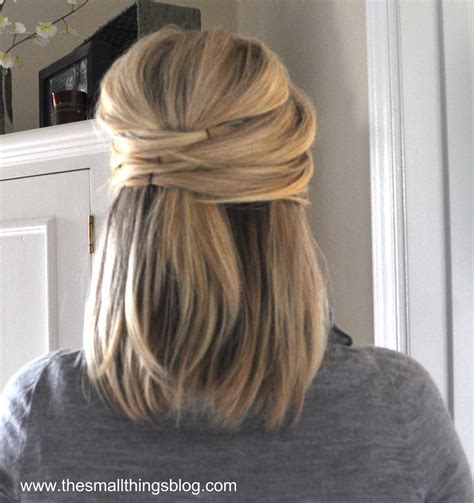 hairstyles for short hair half up elegant half up the small things blog