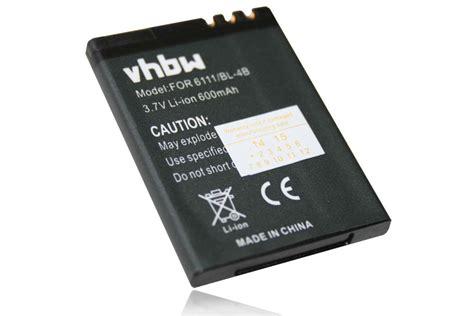 Baterai Nokia 6111 Bl 4b On handy akku f 220 r nokia 2630 2760 6111 7370 bl 4b bl4b batterie ebay