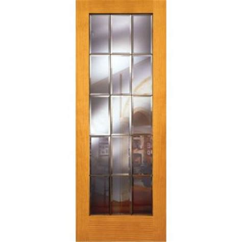 Feather River Interior Doors by Feather River Doors 36 In X 80 In 15 Lite Clear Bevel