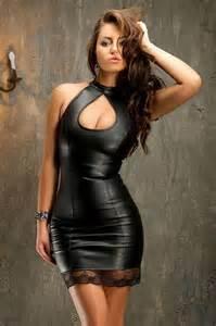 black leather dress dress ty