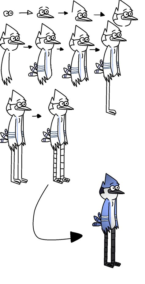 video on steps to show you how to corn row hair thats easy how i draw mordecai by lotusthekat on deviantart