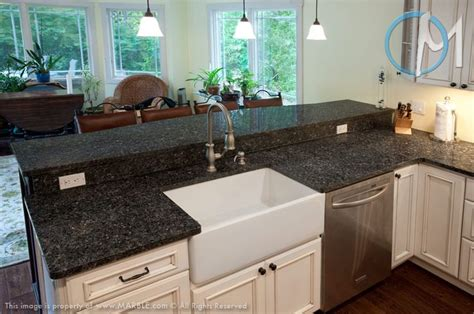White Silver Granite Countertop by Silver Pearl Granite Ramon Enhancements