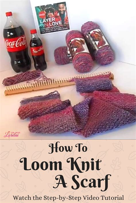 how to loom knit a scarf how to loom knit a scarf and layer on with lorelai