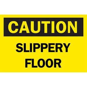 brady 10 in x 14 in plastic caution slippery floor osha
