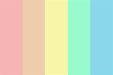 rainbow color palette rainbow in pastel color palette