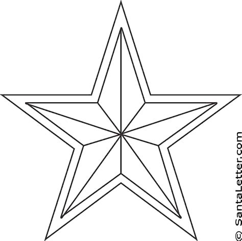 Coloring Page Of A Christmas Star | christmas star coloring pages at santaletter com