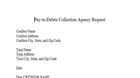 Pay For Deletion Credit Letter dispute letters that work dispute letters for credit