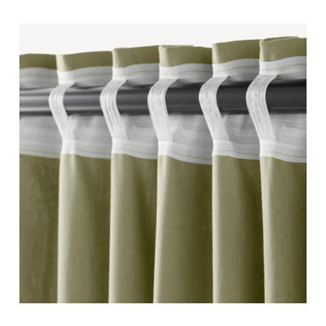 ikea curtain tie backs ingert curtains with tie backs 1 pair green 145x300 cm ikea