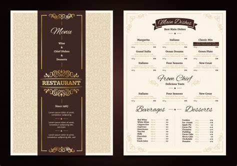cafe menu vectors   psd files