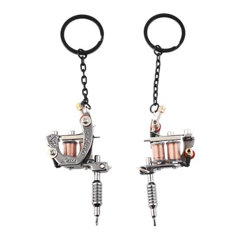tattoo machine charm 1pc fashion charms mini tattoo machine model key chains