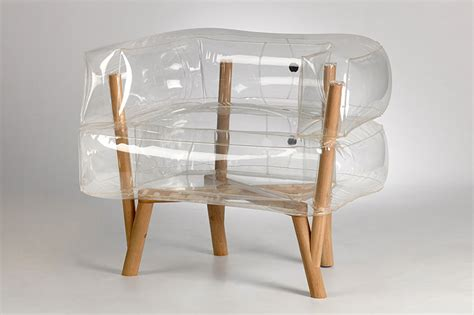 tehila inflates anda armchair of translucent and
