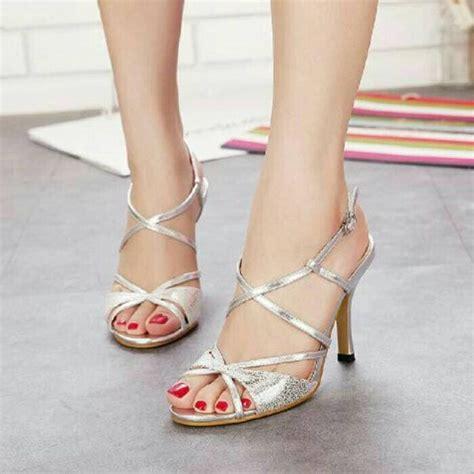 Sepatu Wanita Heels Gold Gliter jual sepatu pesta sepatu wanita high heels cantik heels