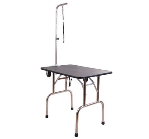 Folding Table On Wheels Pawhut Pet Grooming Table Folding With Wheels All In 1 Set Aosom Ca