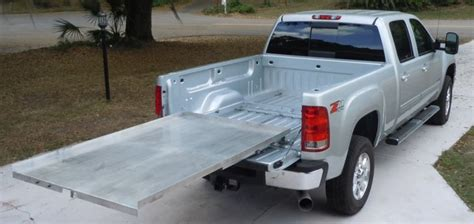 build your own truck bed slide out buy a hinton bed slide and add your own platform or buy