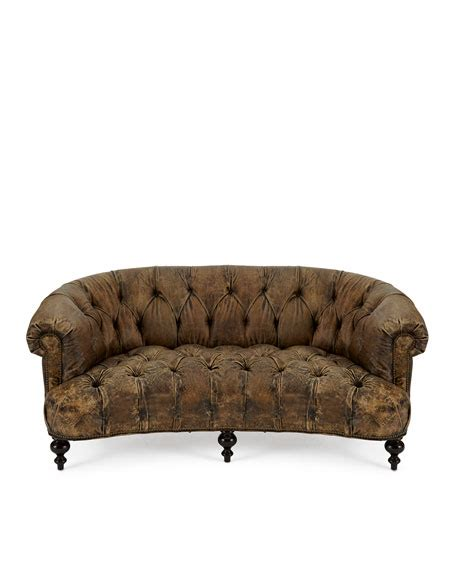 old hickory tannery tufted leather chair ottoman old hickory tannery carson tufted leather sofa