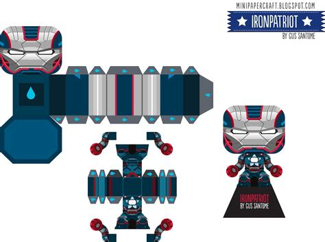 Mini Paper Craft - mini papercraft ironman ironpatriot