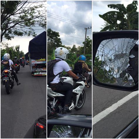 Spion Mobil Racing spion mobil ditabrak pemotor hingga pecah di tuban