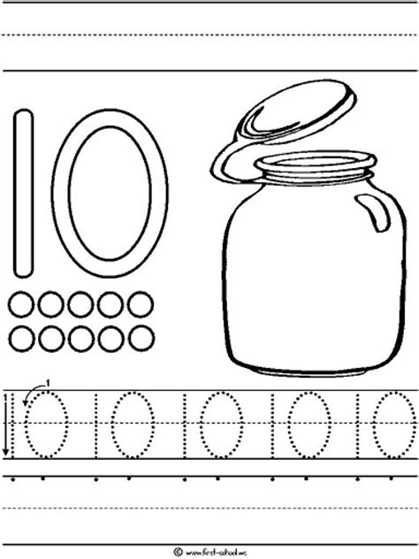 numbers tracing worksheets 10 for preschool printable coloring number names worksheets 187 number tracing sheets 1 10