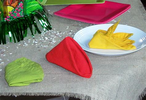 Paper Serviette Folding Ideas - cloth napkin folding ideas matt and shari