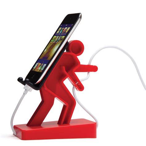 Diy Device Charging Station by Boris Hiker Shaped Phone Holder Gadgetsin
