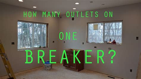how many outlets on one breaker room by room circuit