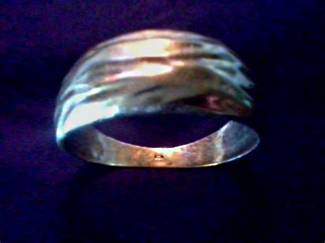 """Unusually Heavy Silver Gold Plated Bracelet /Draped Fabric Design/Marked """"KCR""""/Circa 20th"""