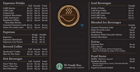 Menu Di Coffee Toffee Depok starbucks coffee menu and prices 2018 restaurantfoodmenu