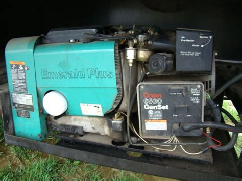 rv parts onan 6500 emerald plus set generator for sale
