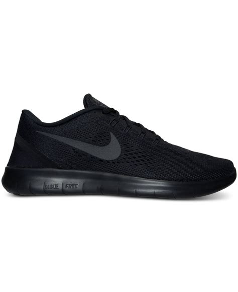 mens black nike sneakers nike s free rn running sneakers from finish line in