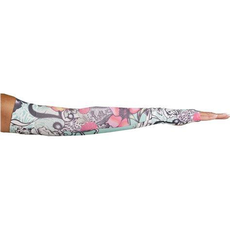 tattoo arm compression sleeve lymphedivas tattoo blossom compression arm sleeve and