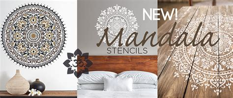 Accent Walls by Wall Painting Stencils Wall Stencils Furniture Stencil