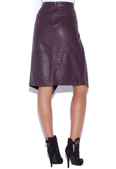 faux leather wrap skirt shoedazzle