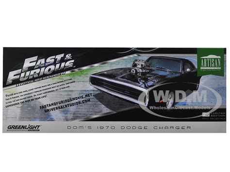 Doms Dodge Charger Rt Skala 155 dom s 1970 dodge charger quot the fast and the furious quot 2001 artisan collection 1 18 diecast