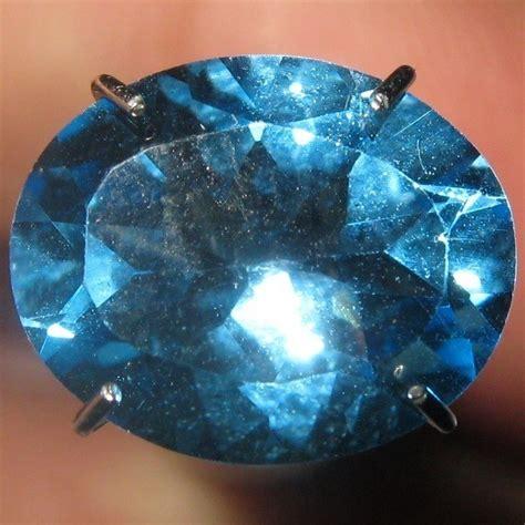 Topaz Swiss 24 Carat Warna Tajam batu permata topaz swiss blue oval cut 2 93 carat