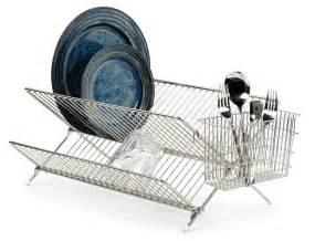 rsvp folding dish drying rack space saving drainer