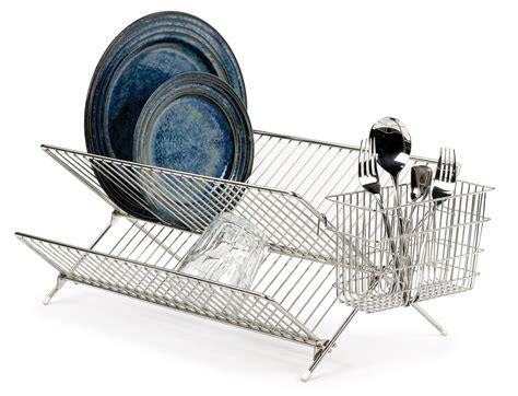 folding drainer rack rsvp folding dish drying rack space saving drainer