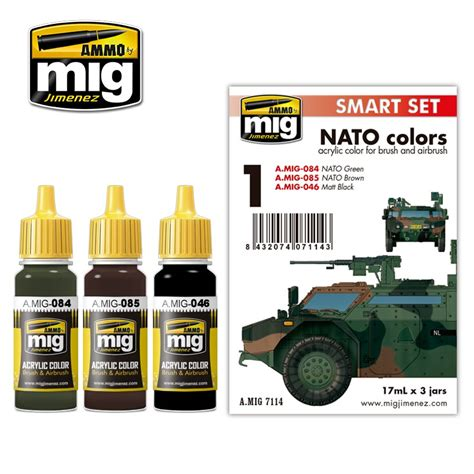 acrylic colors nato colors pack ammo of mig jimenez acrylic colors