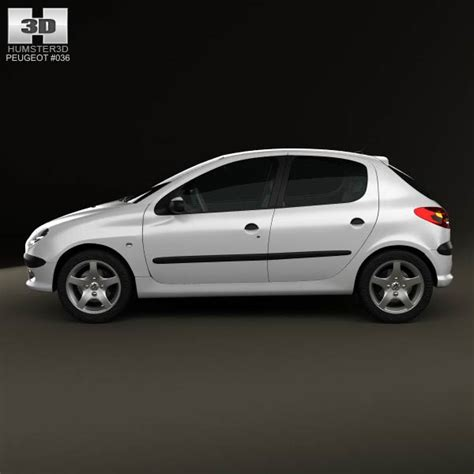 peugeot hatchback models peugeot 206 hatchback 5 door 2005 3d model hum3d