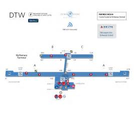 Car Rental Airport Dtw Dtw Airport Map Map2