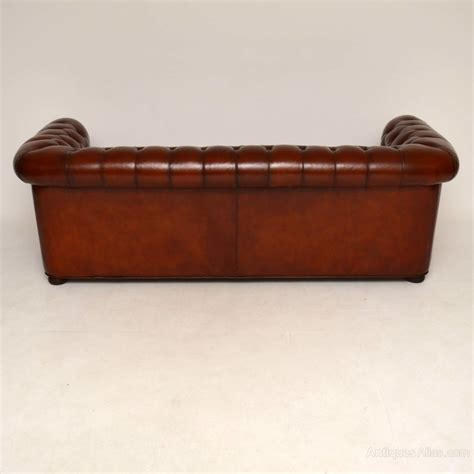 3 seater leather chesterfield sofa antique leather 3 seater chesterfield sofa antiques atlas