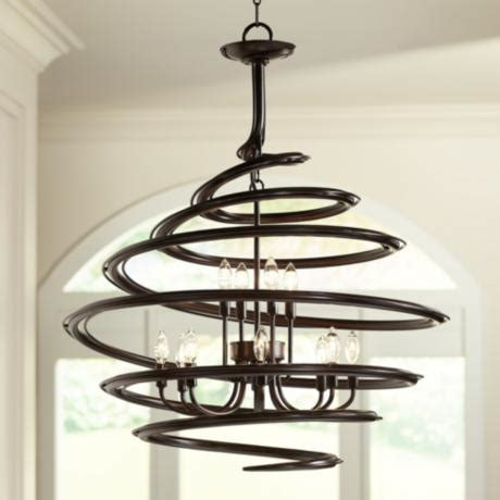 franklin iron works franklin iron works bronze 30 3 4 quot wide swirl chandelier u8950 ls plus