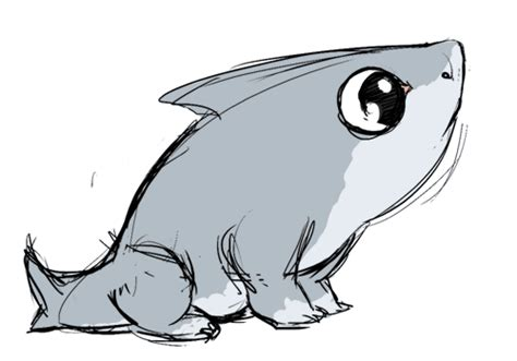 shark puppy gif drawings shark puppy fireandshellamari deliciouslimes