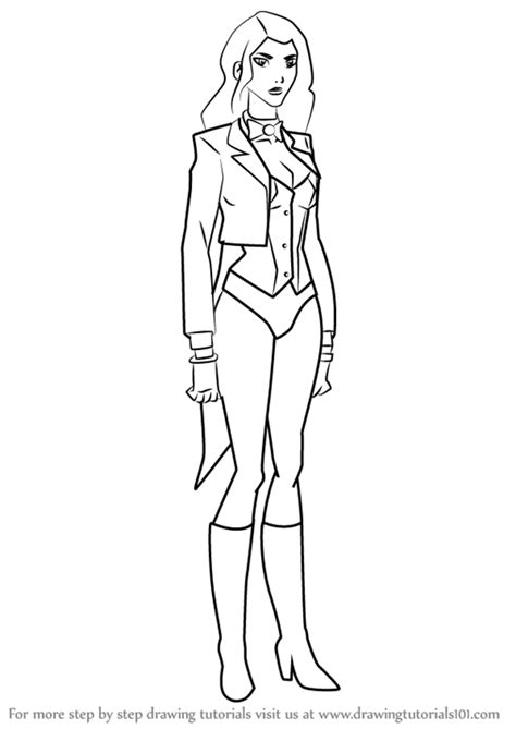coloring pages young justice learn how to draw zatanna from young justice young