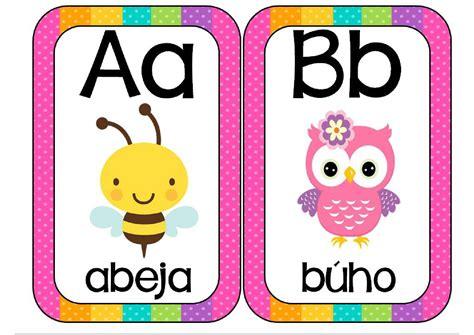 el magico prodigioso letras super tarjetas trabajamos las letras abecedario animales orientacion andujar