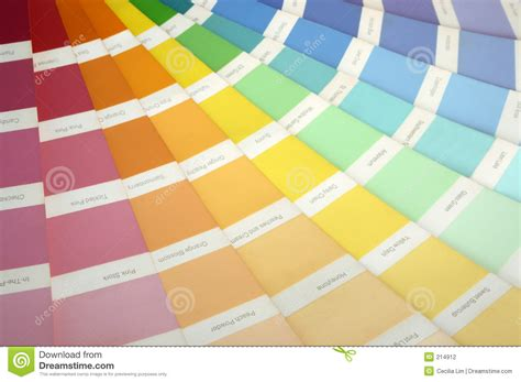 paint swatch stock photo image of rainbow choice blue 214912