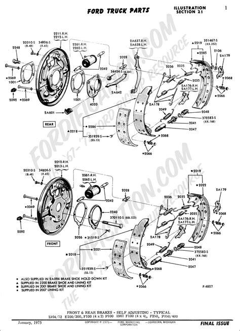 Ford transit rear brakes diagram