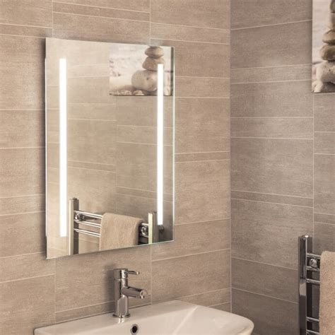 bathroom mirrors square led heated plumbworld