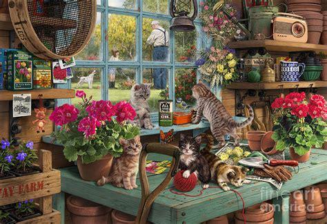 antique pattern library com grandpa s potting shed digital art by steve read