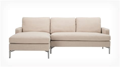fabric sectionals with chaise eq3 eve classic 2 piece sectional sofa with chaise fabric